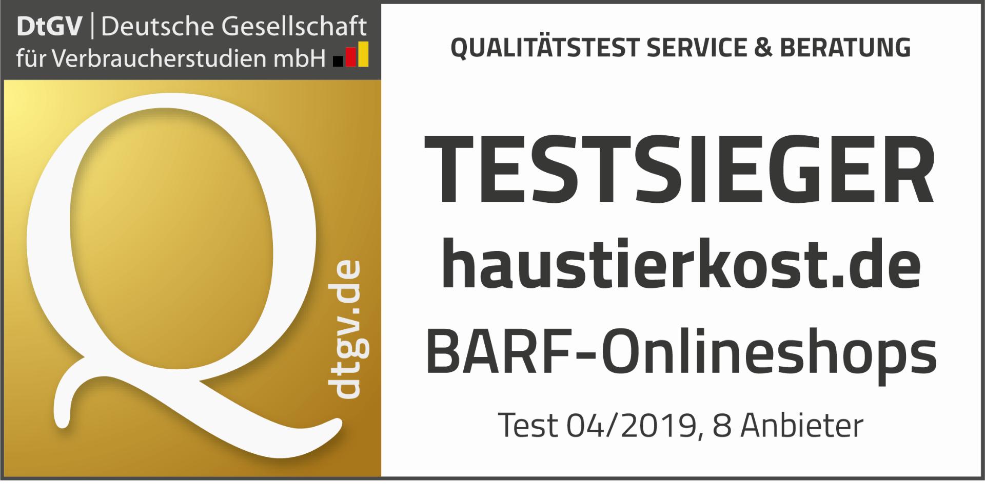 BARF Testsieger 2019